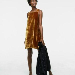 Loft Strappy Velvet Swing Dress